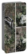 Common Yarrow Collage Portable Battery Charger