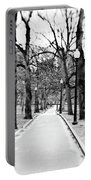 Commons Park Pathway Portable Battery Charger by Scott Pellegrin