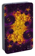 Complimentary - Yellow And Purple Portable Battery Charger