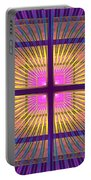 Computer Generated Fractal Squares Geometric Pattern Portable Battery Charger
