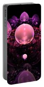 Computer Generated Pink Abstract Bubbles Fractal Flame Art Portable Battery Charger