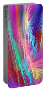 Computer Generated Pink Abstract Fractal Portable Battery Charger