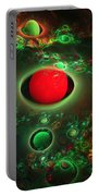 Computer Generated Spheres Abstract Fractal Flame Modern Art Portable Battery Charger