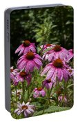 Cone Flower And Bee Portable Battery Charger