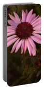 Coneflower And Dusty Miller Portable Battery Charger