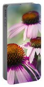 Coneflower Jewel Tones - Echinacea Portable Battery Charger