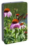 Coneflower With Butterfly Portable Battery Charger