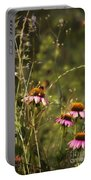 Coneflowers Weeds And Bee Portable Battery Charger