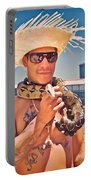 Coney Island Snake Man Portable Battery Charger