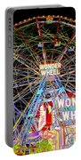 Coney Island's Famous Amusement Park And Wonder Wheel Portable Battery Charger