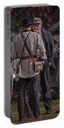 Confederate Civil War Reenactors With Rebel Confederate Flag Portable Battery Charger