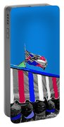 Confederate Flag Us Flag Line Of Hats Tucson Arizona Color Added Portable Battery Charger