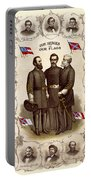 Confederate Generals And Flags Portable Battery Charger