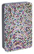 Confetti Paper Cut Spiral Design Portable Battery Charger
