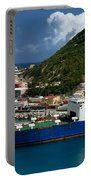 Container Ship St Maarten Portable Battery Charger