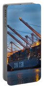 Container Ships Docked In Port Of Oakland Portable Battery Charger