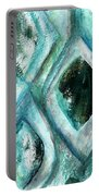 Contemporary Abstract- Teal Drops Portable Battery Charger