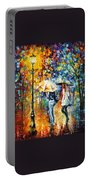 Conversation - Palette Knife Oil Painting On Canvas By Leonid Afremov Portable Battery Charger