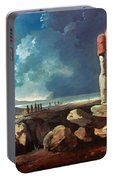 Cook: Easter Island, 1774 Portable Battery Charger