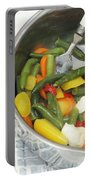 Cooked Mixed Vegetables Portable Battery Charger