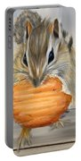 Cookie Time- Squirrel Eating A Cookie Portable Battery Charger