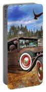 Cool Rusty Classic Ride Portable Battery Charger