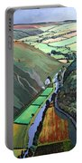 Coombe Valley Gate, Exmoor, 2009 Acrylic On Canvas Portable Battery Charger