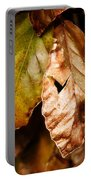 Copper Beech Leaves Portable Battery Charger