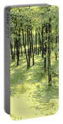 Copse Of Trees Sunlight Portable Battery Charger