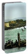 Coquille River Lighthouse And Birds Portable Battery Charger