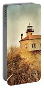 Coquille River Lighthouse - Texture Portable Battery Charger