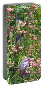 Coral Bells And Irises Portable Battery Charger