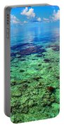 Coral Reef Near The Island At Peaceful Day. Maldives Portable Battery Charger