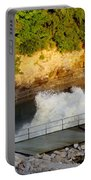 Coralville Dam At Capacity Portable Battery Charger