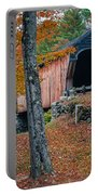 Corbin Covered Bridge Newport New Hampshire Portable Battery Charger by Edward Fielding