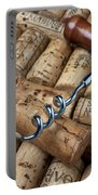 Corkscrew On Corks Portable Battery Charger by Garry Gay