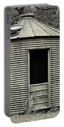 Corn Crib In Monochrome Portable Battery Charger