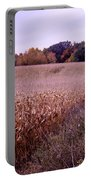 Corn Field In The Fall Portable Battery Charger