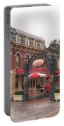 Corner Cafe Main Street Disneyland 02 Portable Battery Charger
