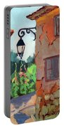 Street Corner In St. Colombe Portable Battery Charger