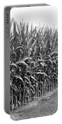 Cornfield Black And White Portable Battery Charger