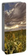Cornfield Sunset  Portable Battery Charger