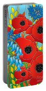 Cornflower Poppies Bluebells Portable Battery Charger
