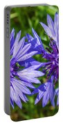 Cornflowers Growing In A Field Portable Battery Charger