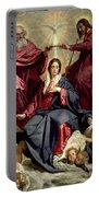 Coronation Of The Virgin Portable Battery Charger by Diego Velazquez