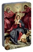 Coronation Of The Virgin Portable Battery Charger
