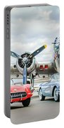 Corvettes With B17 Bomber Portable Battery Charger