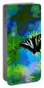 Cosmic Butterfly In The Pines Portable Battery Charger