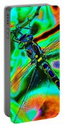 Cosmic Dragonfly Art 1 Portable Battery Charger