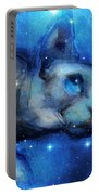 Cosmic Sphynx Cat  Portable Battery Charger